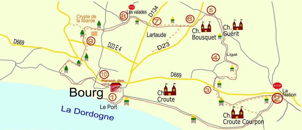Caruso33 | Balade de la crypte de la Libarde autour de Bourg en