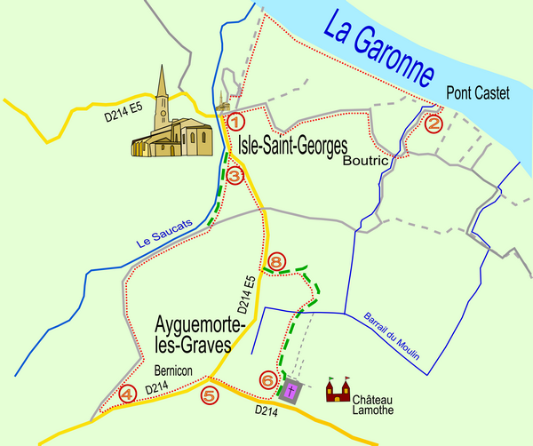 Caruso33 randonn e p destre isle saint georges le long for Balade sur la garonne toulouse
