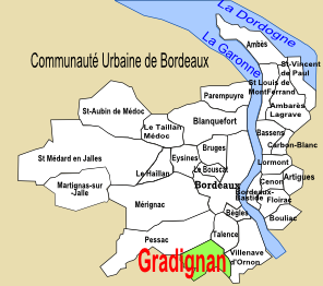 Carte du Bordelais : Gradignan