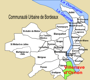 Carte du Bordelais