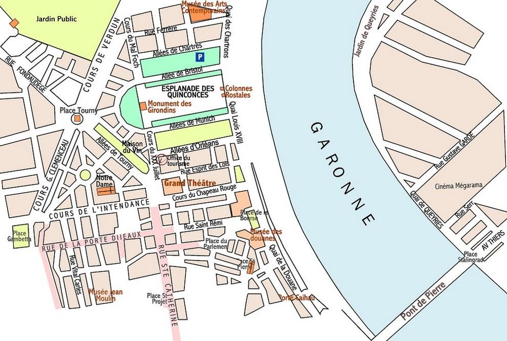 Carte Bordeaux Par Quartier.Caruso33 Plan De Bordeaux N 2