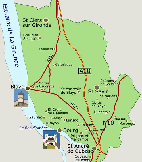 CARUSO33 : Tourisme en Haute Gironde (Département de la Gironde, 33)