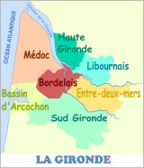CARUSO33 : carte du Médoc (Département de la Gironde)