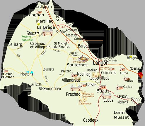 CARUSO33 : Tourisme dans le Sud Gironde (Département de la Gironde