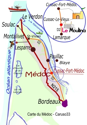 Situation Carte Medoc LE MOULINA