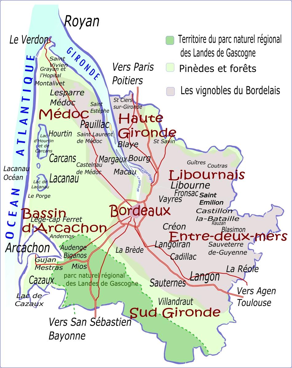 Caruso33 Carte De La Gironde Region Nouvelle Aquitaine