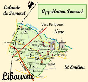 Carte de l'appellation POMEROL